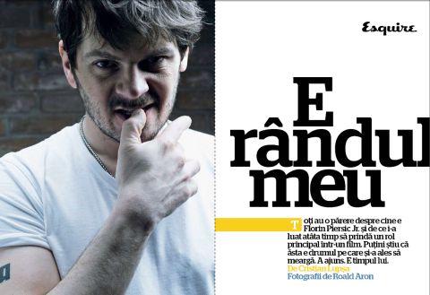 Florin Piersic Jr, Esquire Romania, martie 2008